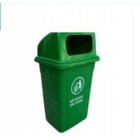 Thùng rác HDPE 90L nắp hở